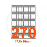 Etichette adesive 17,8x10mm, in carta bianca