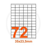 Etichette adesive 35x23,5mm, in carta bianca