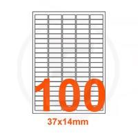 Etichette adesive 37x14mm, in carta bianca