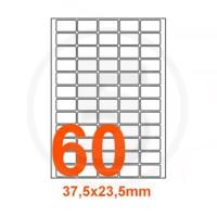 Etichette adesive 37,5x23,5 mm, in carta bianca