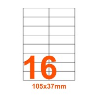Etichette adesive Riciclate 105x37mm color Bianco