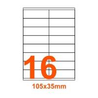 Etichette adesive Riciclate 105x35mm color Bianco