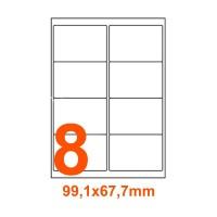 Etichette adesive Riciclate 99,1x67,7mm color Bianco