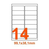 Etichette adesive Basse temperature 99,1x38,1mm color Bianco