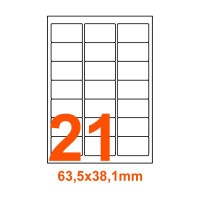 Etichette adesive Basse temperature 63,5x38,1mm color Bianco