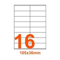 Etichette adesive Coprenti 105x36mm color Bianco
