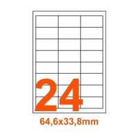 Etichette adesive Coprenti 64,6x33,8mm color Bianco