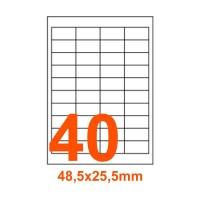 Etichette adesive Coprenti 48,5x25,4mm color Bianco