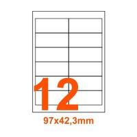 Etichette adesive Rimovibili 97x42,3mm color Bianco