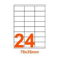 Etichette adesive Rimovibili 70x35mm color Bianco