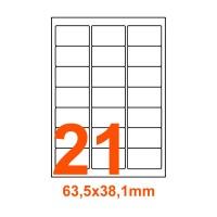 Etichette adesive Rimovibili 63,5x38,1mm color Bianco