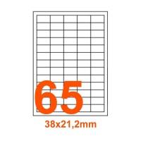 Etichette adesive Rimovibili 38x21,2mm color Bianco