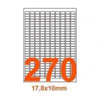 Etichette adesive Rimovibili 17,8x10mm color Bianco