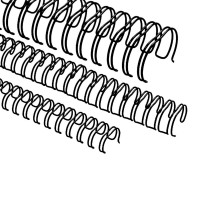 """Spirali metalliche per rilegature 24 anelli, 9,5mm (3/8""""), nero"""