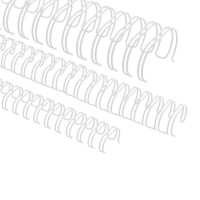 """Spirali metalliche per rilegature 24 anelli, 9,5mm (3/8""""), bianco"""