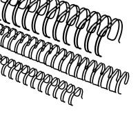 """Spirali metalliche per rilegature 24 anelli, 6,9mm (1/4""""), nero"""