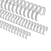 """Spirali metalliche per rilegature 34 anelli, 6,9mm (1/4""""), argento"""