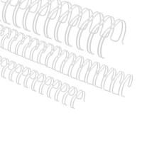 """Spirali metalliche per rilegature 23 anelli, 6,9mm (1/4""""), bianco"""