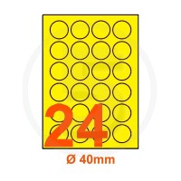 Etichette adesive pastello diametro 40mm color Giallo