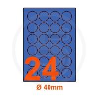 Etichette adesive pastello diametro 40mm color Blue