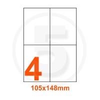 Etichette adesive 105x148 Bianche, con bordino di sicurezza