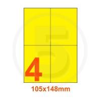 Etichette adesive pastello 105x148mm color Giallo