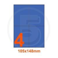 Etichette adesive pastello 105x148mm color Blue