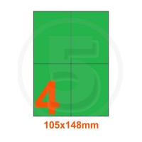 Etichette adesive pastello 105x148mm color Verde