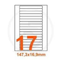 Etichette adesive 147,3x16,9 Bianche, con bordino di sicurezza