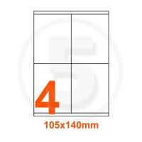 Etichette adesive 105x140 Bianche, con bordino di sicurezza