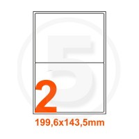 Etichette adesive 199,6x143,5 Bianche, con bordino di sicurezza