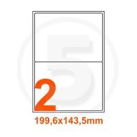 Etichette adesive Riciclate 199,6x143,5mm color Bianco