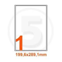 Etichette adesive 199,6x289,1 Bianche, con bordino di sicurezza