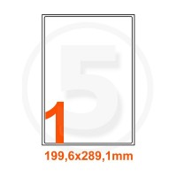 Etichette adesive Riciclate 199,6x289,1mm color Bianco