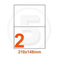 Etichette adesive 210x148 Bianche, con bordino di sicurezza
