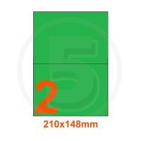Etichette adesive pastello 210x148mm color Verde