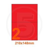 Etichette adesive pastello 210x148mm color Rosso