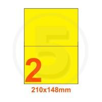 Etichette adesive pastello 210x148mm color Giallo