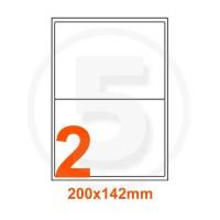 Etichette adesive 200x142 Bianche, con bordino di sicurezza