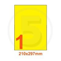 Etichette adesive pastello 210x297mm color Giallo