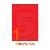 Etichette adesive pastello 210x297mm color Rosso