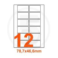 Etichette adesive Rimovibili 78,7x46,6mm color Bianco