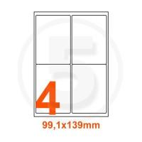 Etichette adesive Riciclate 99,1x139mm color Bianco