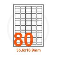 Etichette adesive 35,6x16,9 Bianche, con bordino di sicurezza