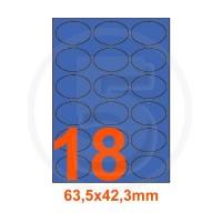 Etichette adesive pastello 63,5x42,3mm color Blue