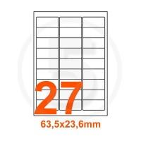 Etichette adesive Basse temperature 63,5x29,6mm color Bianco