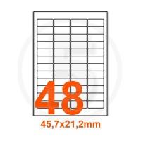 Etichette adesive Rimovibili 45,7x21,2mm color Bianco