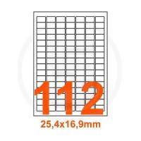 Etichette adesive Rimovibili 25,4x16,9mm color Bianco
