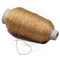 Cordino elastico in bobina, spessore 1mm, Oro
