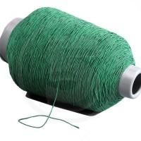Cordino elastico in bobina, spessore 1mm, Verde scuro